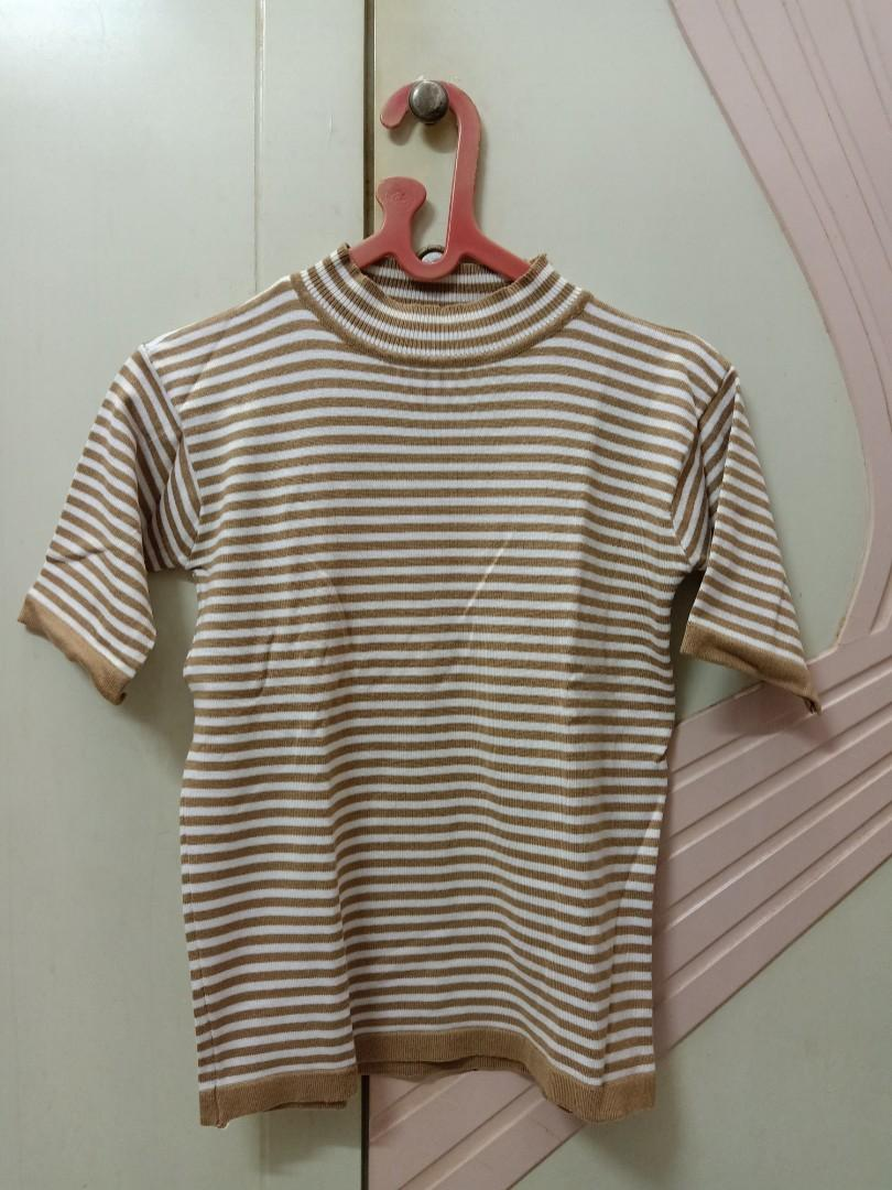 Stripe Top Brown