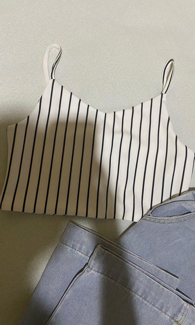 Stripes pattern tank top