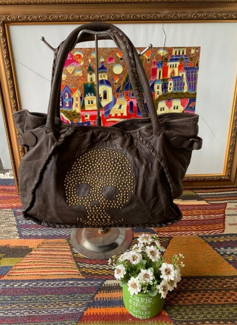 Tas Skull Avais Vous Hallowen Medium Tote Bag