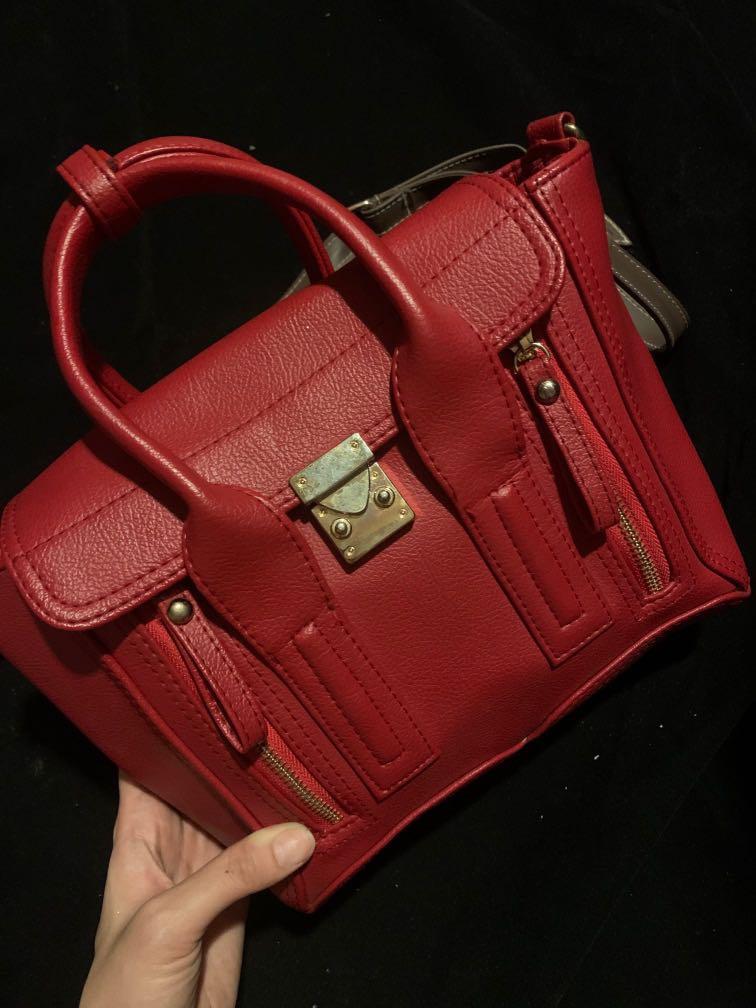 Tas wanita mini kecil merah (good quality)