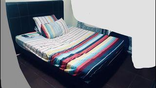 To bless queen size bed frame and mattress with a small vanity bedside table