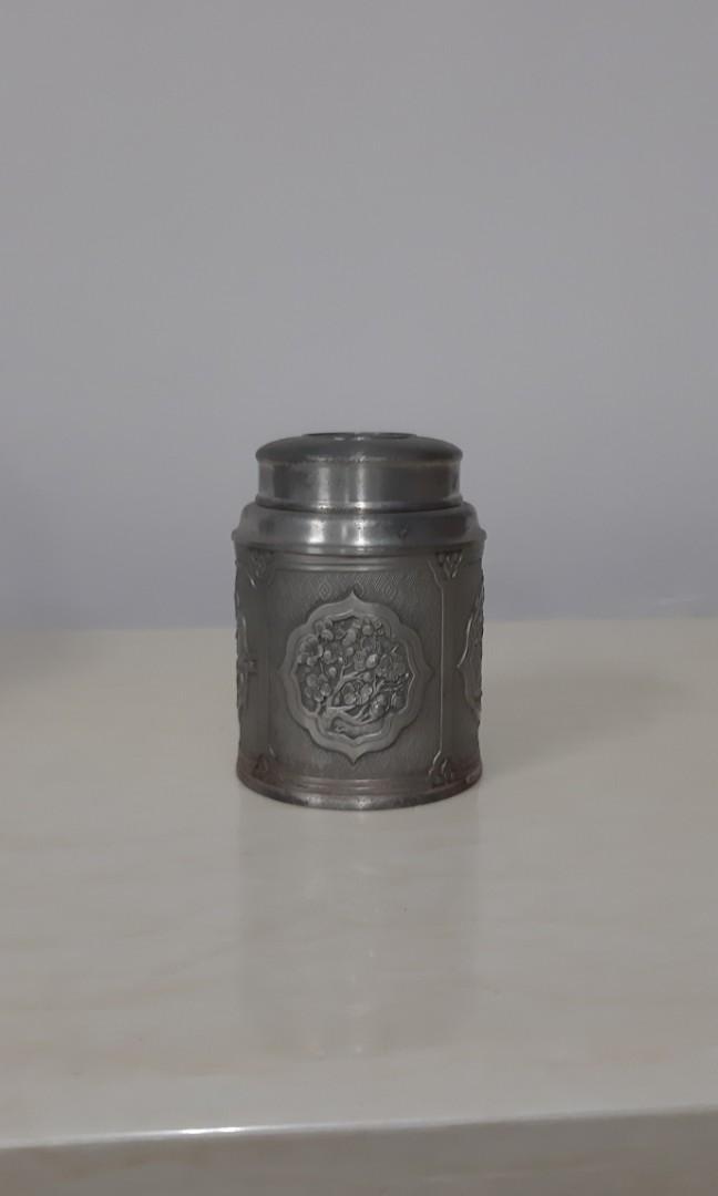 Tumasek Pewter                  大馬茶葉罐(未使用)