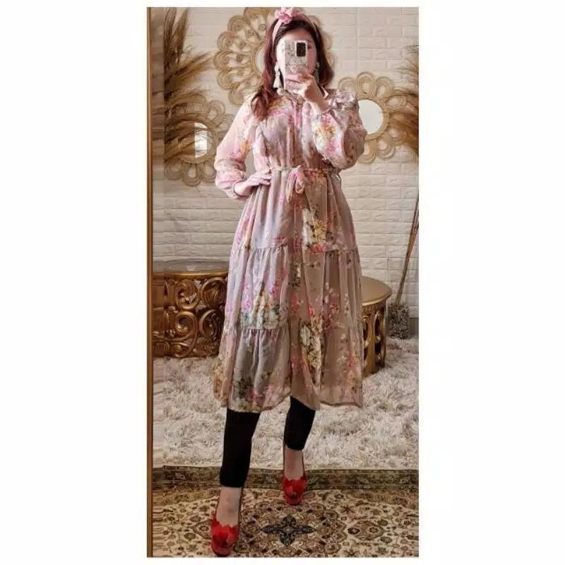 Tunik bunga / tunik renda / Dress Serut / Midi dress