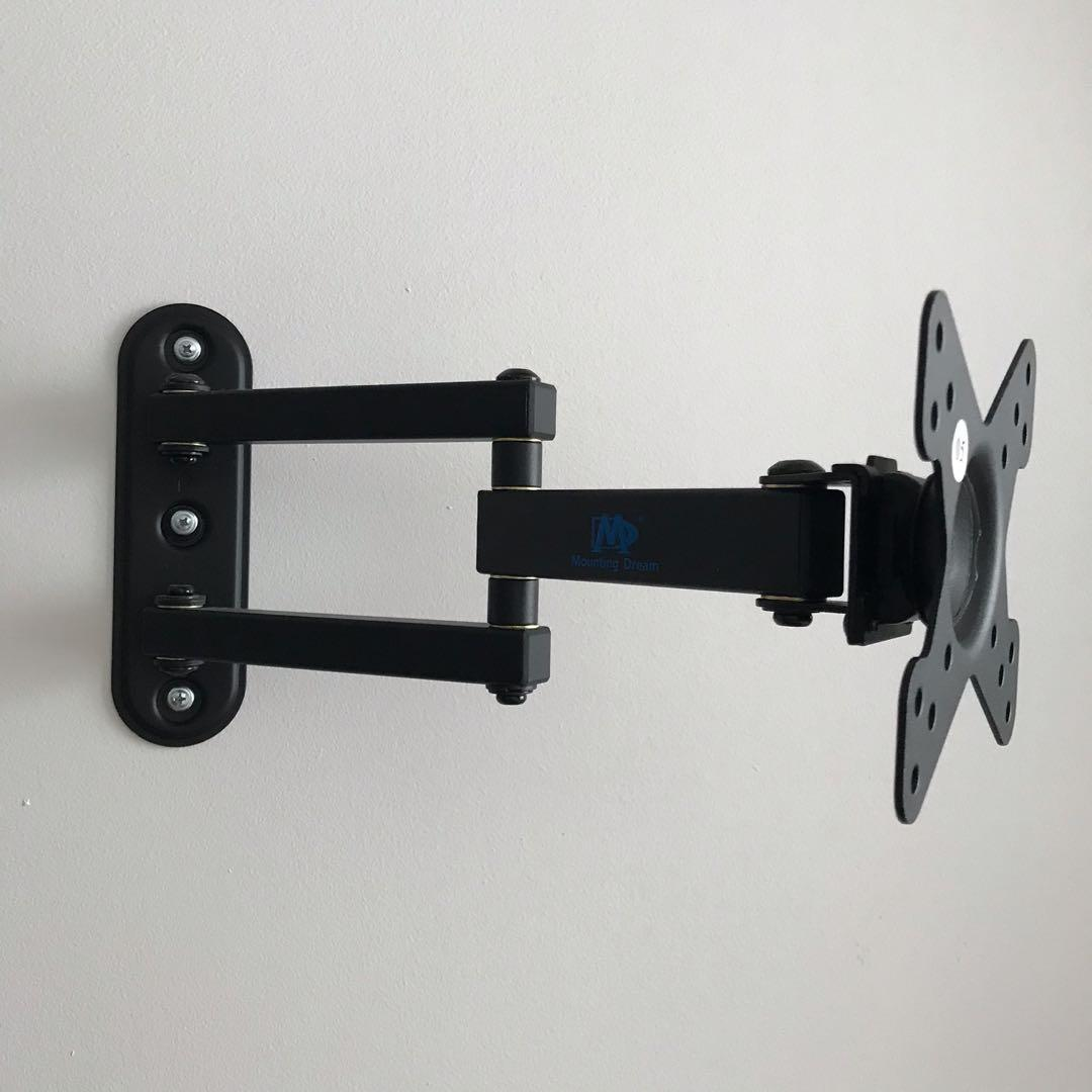 Tv & monitor wall mount system