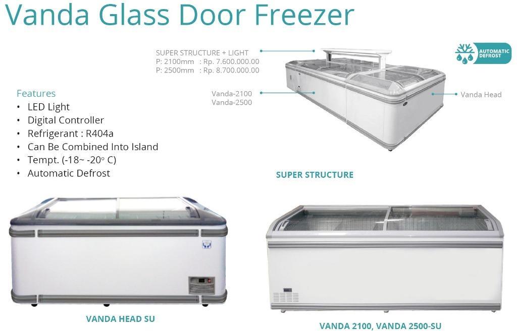 VANDA GLASS DOOR FREEZER (VANDA-2100)