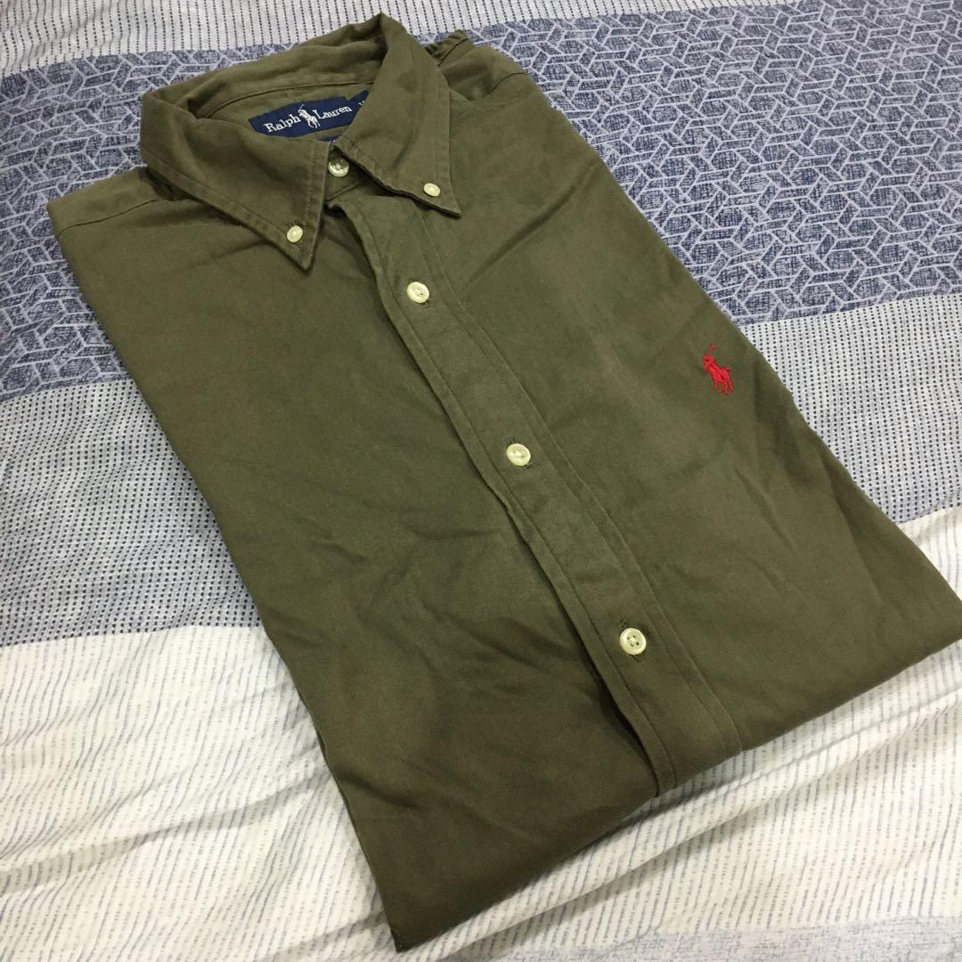 Vintage Ralph Lauren 短袖襯衫 棕色
