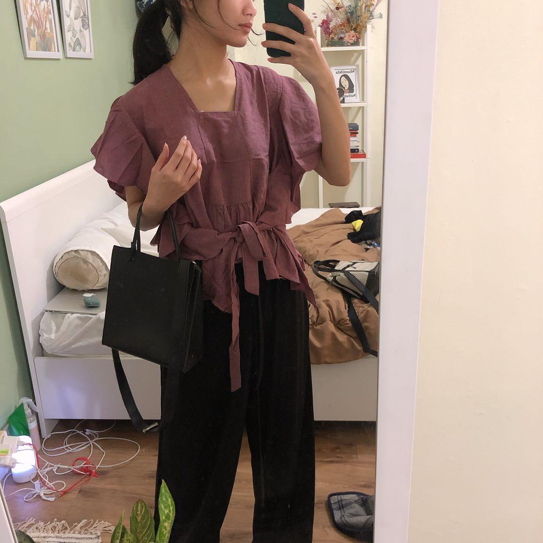 Violet Knitted Blouse Tie