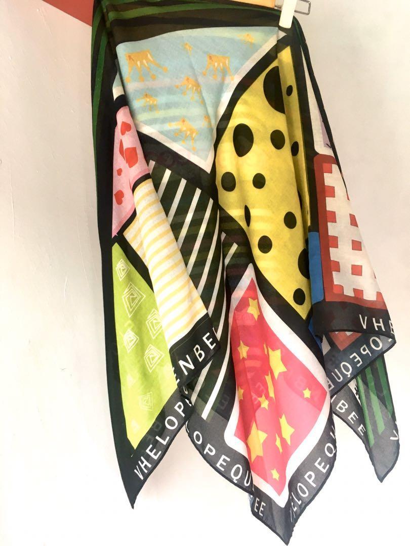 Voal printed scarf