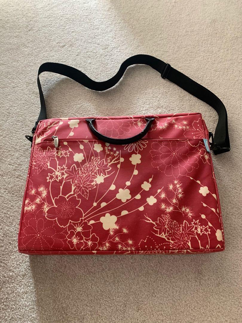 Women's laptop bag floral red