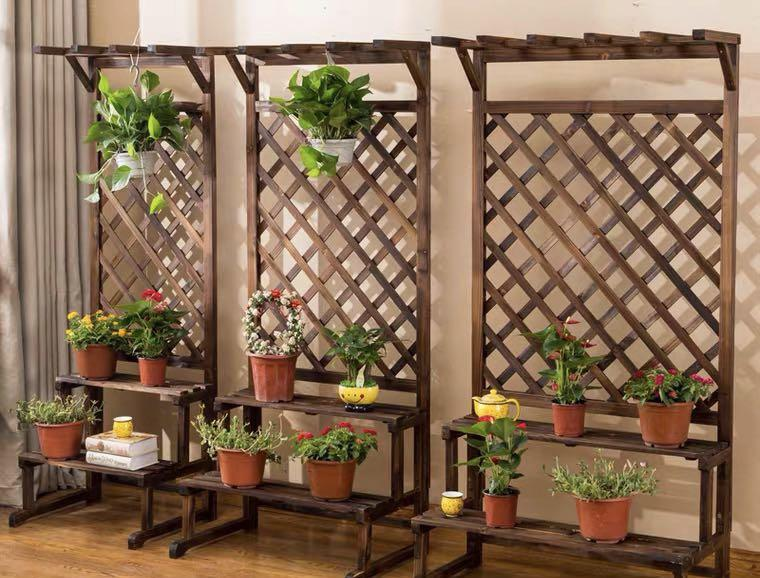 Wood plant rack