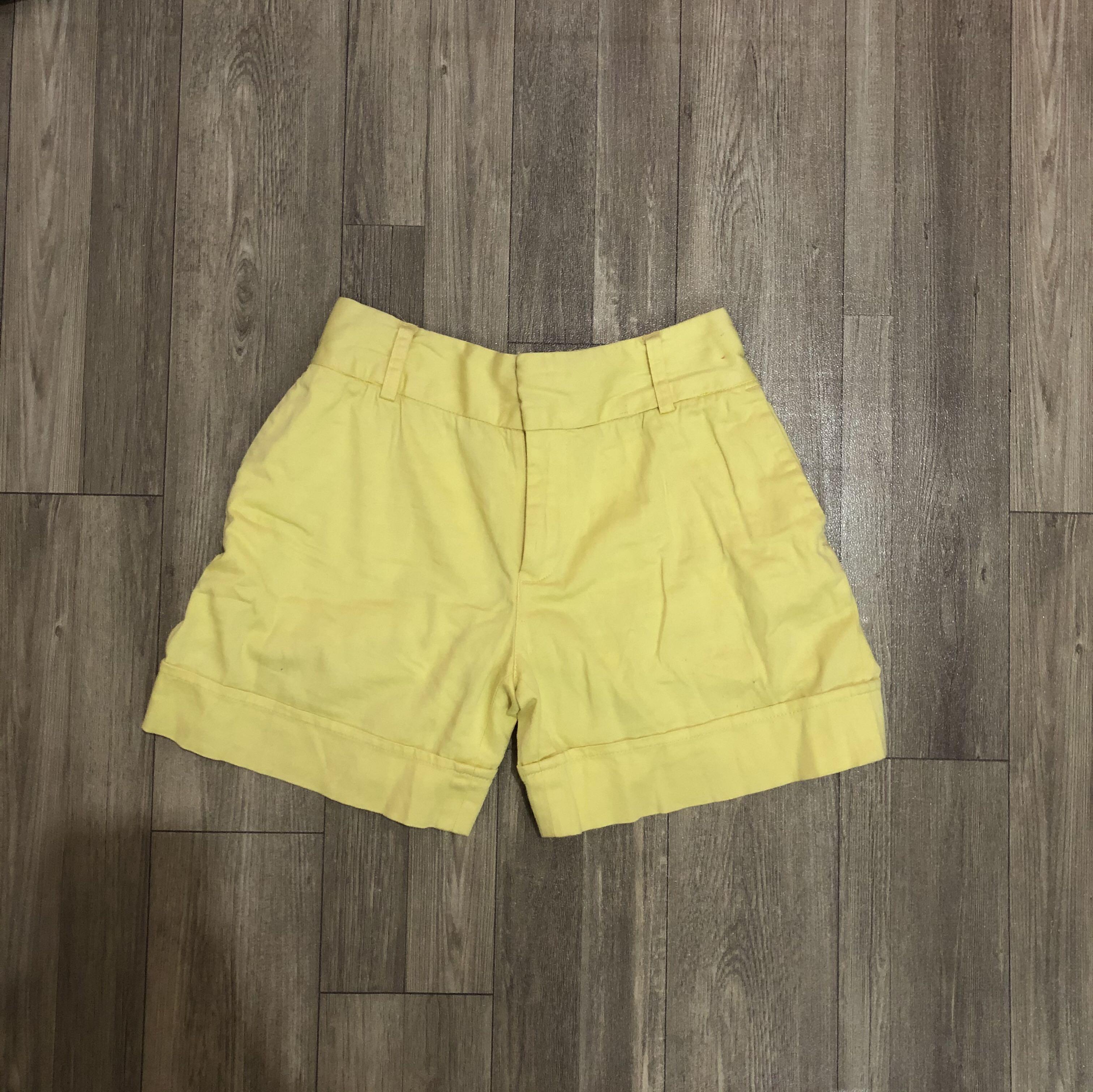 Yellow hot pants