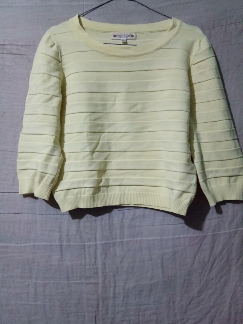 Yellow Sweater Top