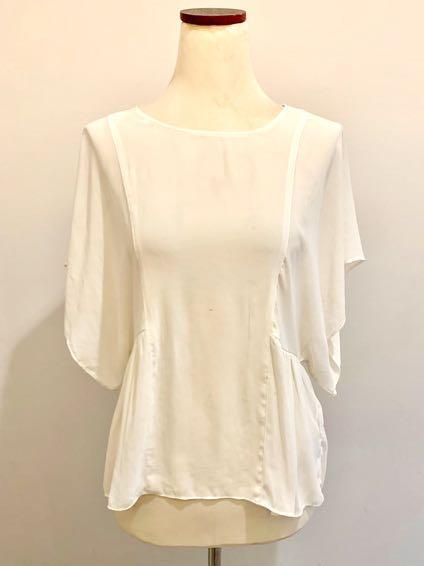 Zara basic white blouse / Atasan baju putih