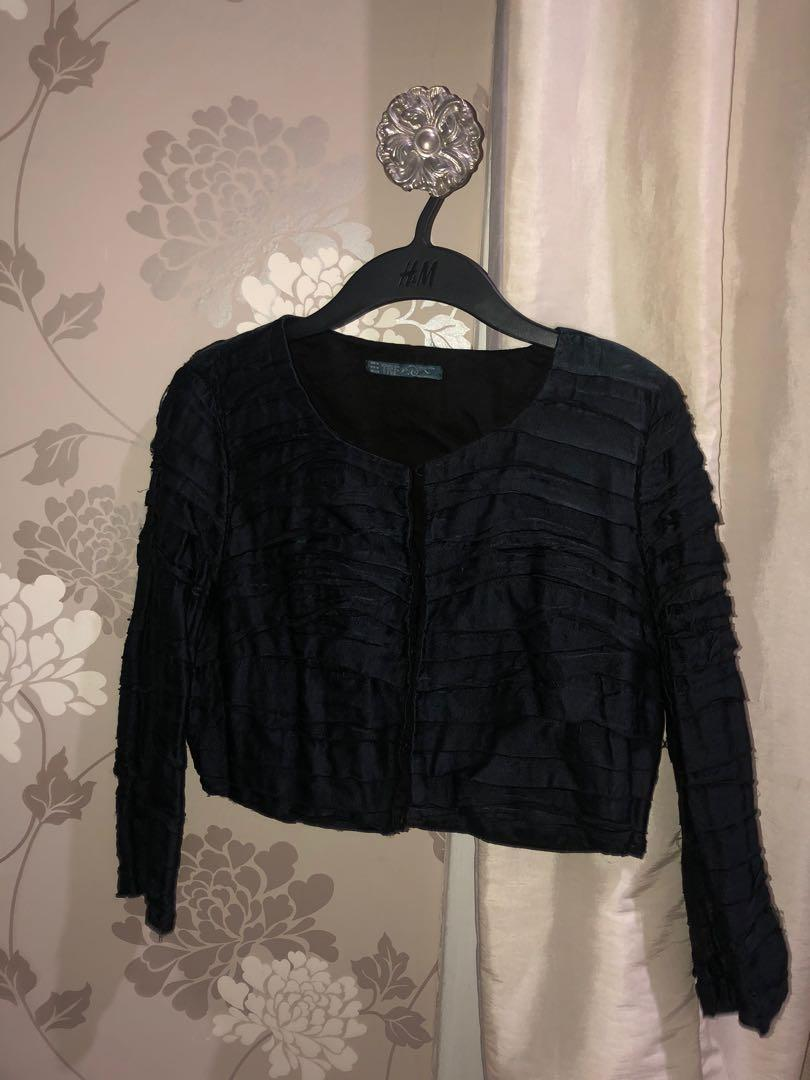 Zara Black  Cropped Top Outer