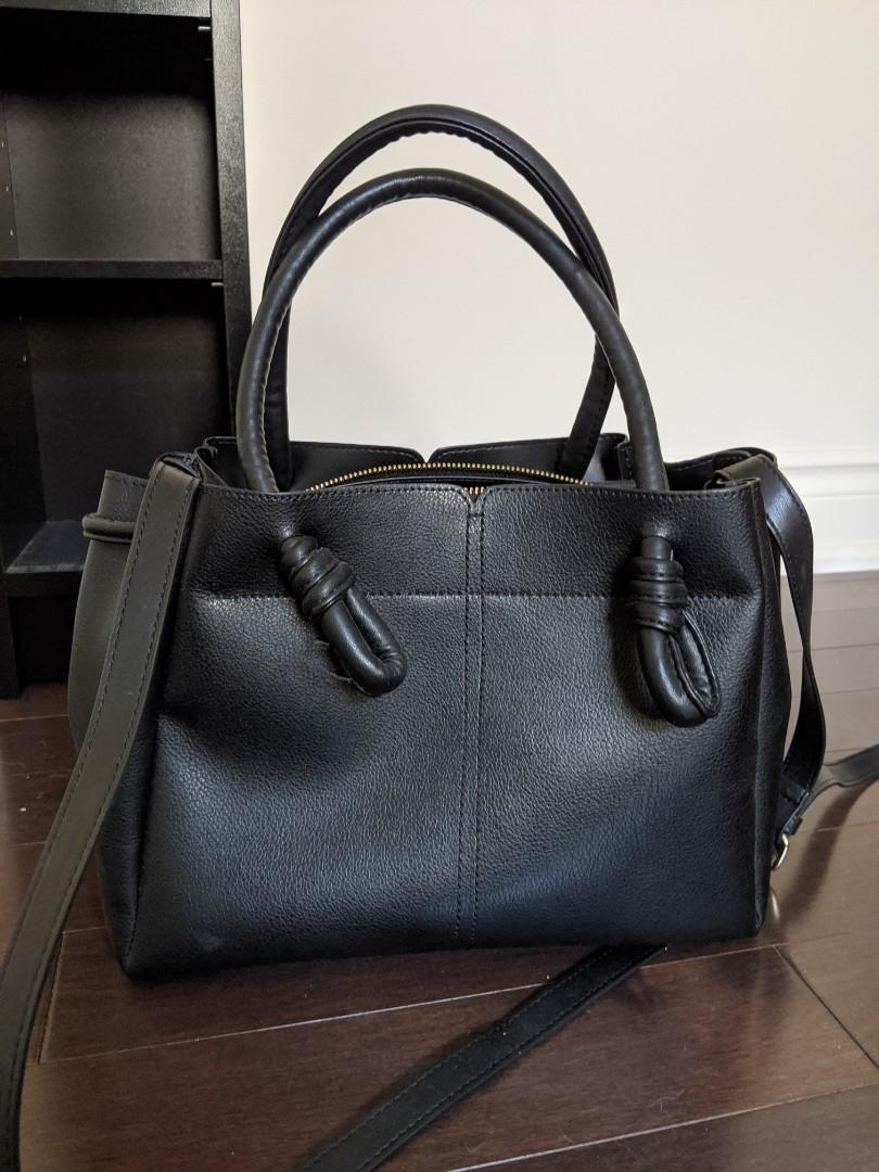 ZARA black faux leather bag