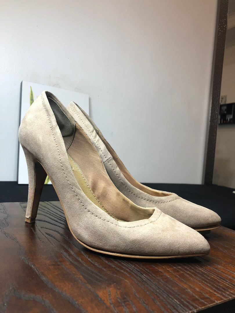 Zara High Heels cream