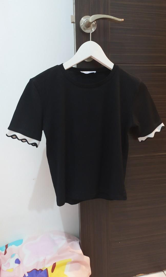 Zara knit black top