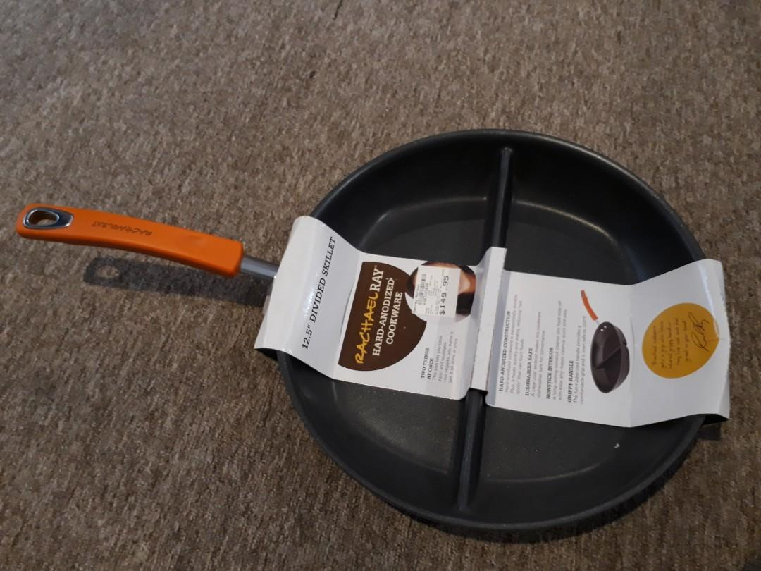 """12.5"""" Divided Skillet by Rachel Ray."""