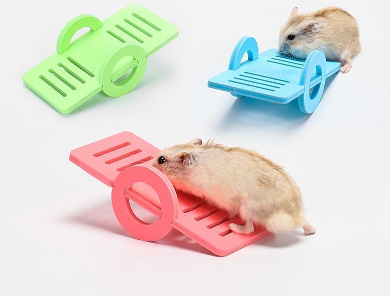 倉鼠蹺蹺板  彩虹蹺蹺板  倉鼠玩具  寵物用品  倉鼠用品
