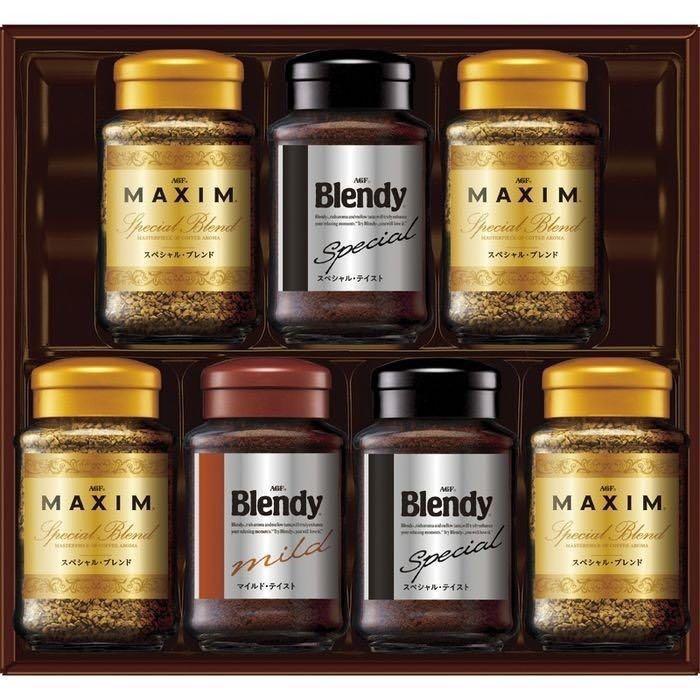 AGF 日本原裝進口 即溶咖啡 禮物套裝 馬克西姆混合咖啡65g 布蘭迪混合咖啡70g 布蘭迪溫和咖啡70g