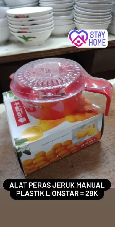 Alat Peras Jeruk Manual Plastik (Citrus Hand Juicer) Lionstar