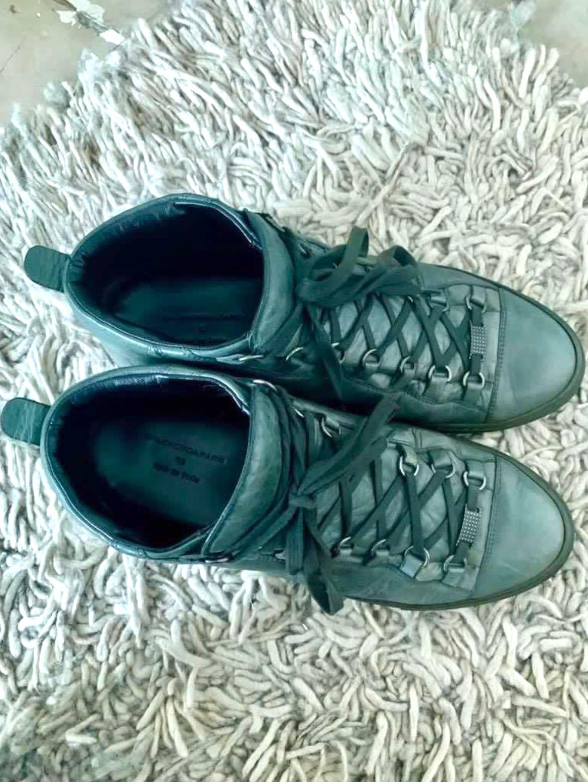 Balenciaga Arena Hunter Green Leather