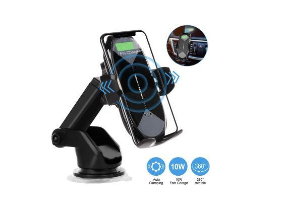 Brand new Honshoop wireless car phone charger mount Qi fast charging