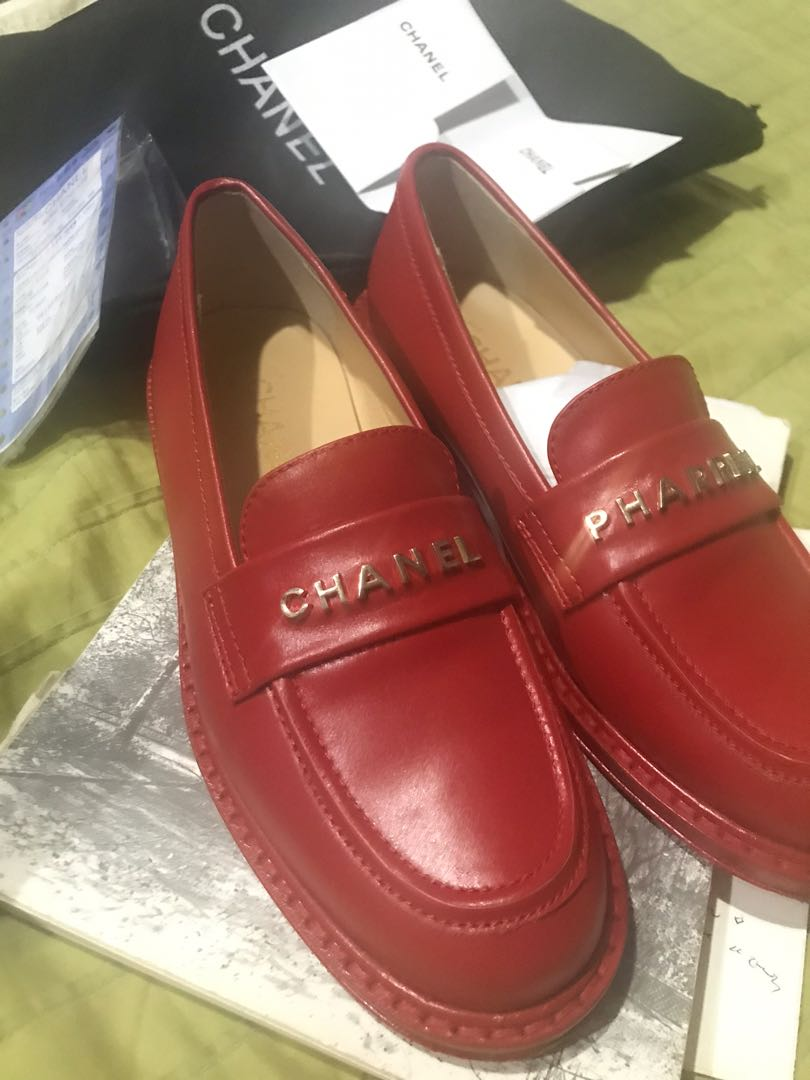 chanel pharrell loafers