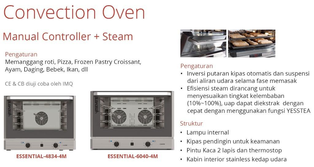 CONVECTION OVEN (ESSENTIAL-4834-4M)