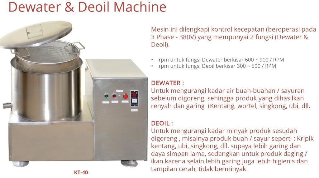 DEWATER & DEOIL MACHINE (KT-40)
