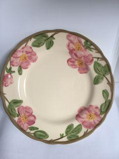 franciscan dessert rose plate
