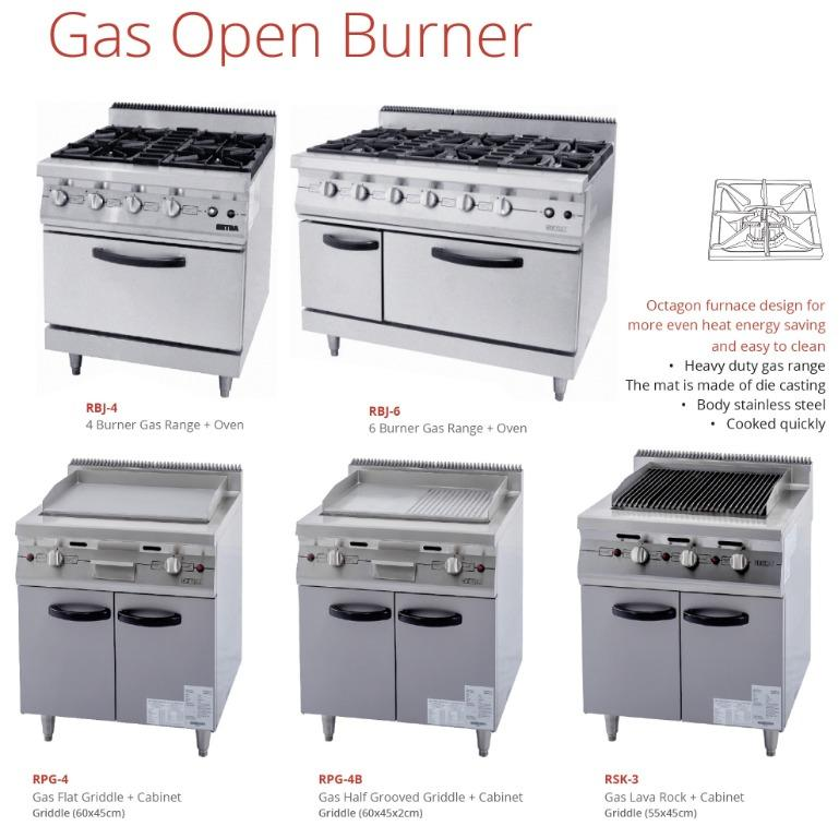 GAS OPEN BURNER (RBJ-6)