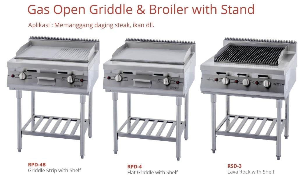 GAS OPEN GRIDDLE ~ BROILER WITH STAND (RSD-3)