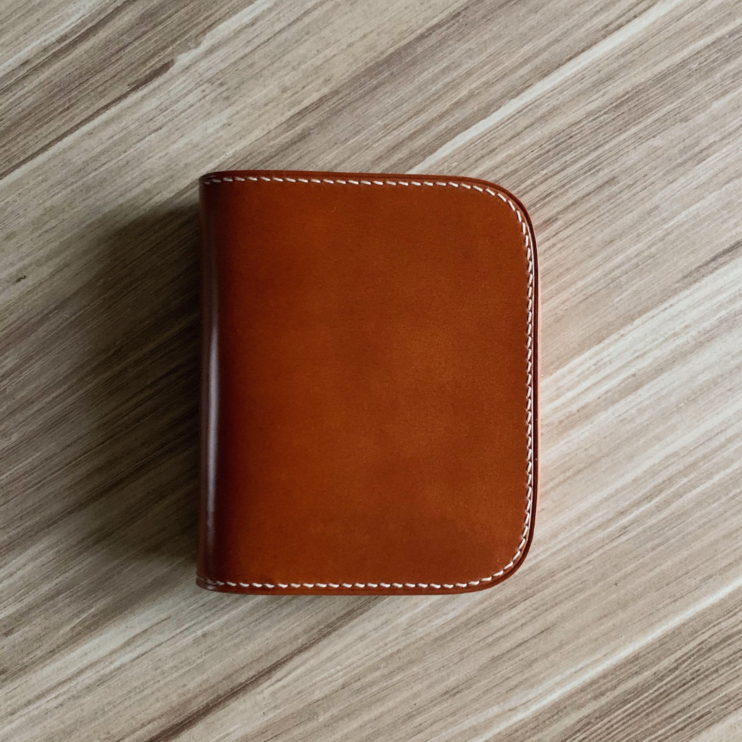 Horween shell cordovan full leather wallet