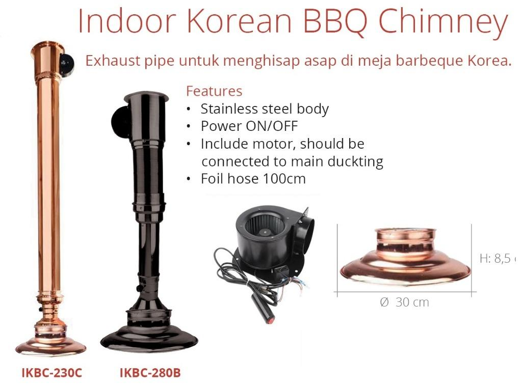 INDOOR KOREAN BBQ CHIMNEY (IKBC-230C)