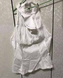 Karen Millen 英國品牌 白色造型無袖
