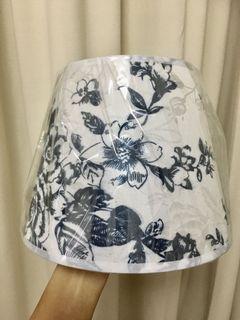 Lamp shade shabby chic vintage white navy blue E14 E27