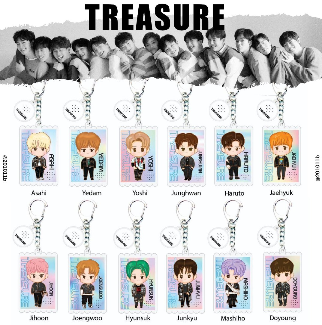 Po Treasure Fanart Acrylic Keychains Keyring Chapter Chpt 1 2 One Two The First Step Entertainment K Wave On Carousell