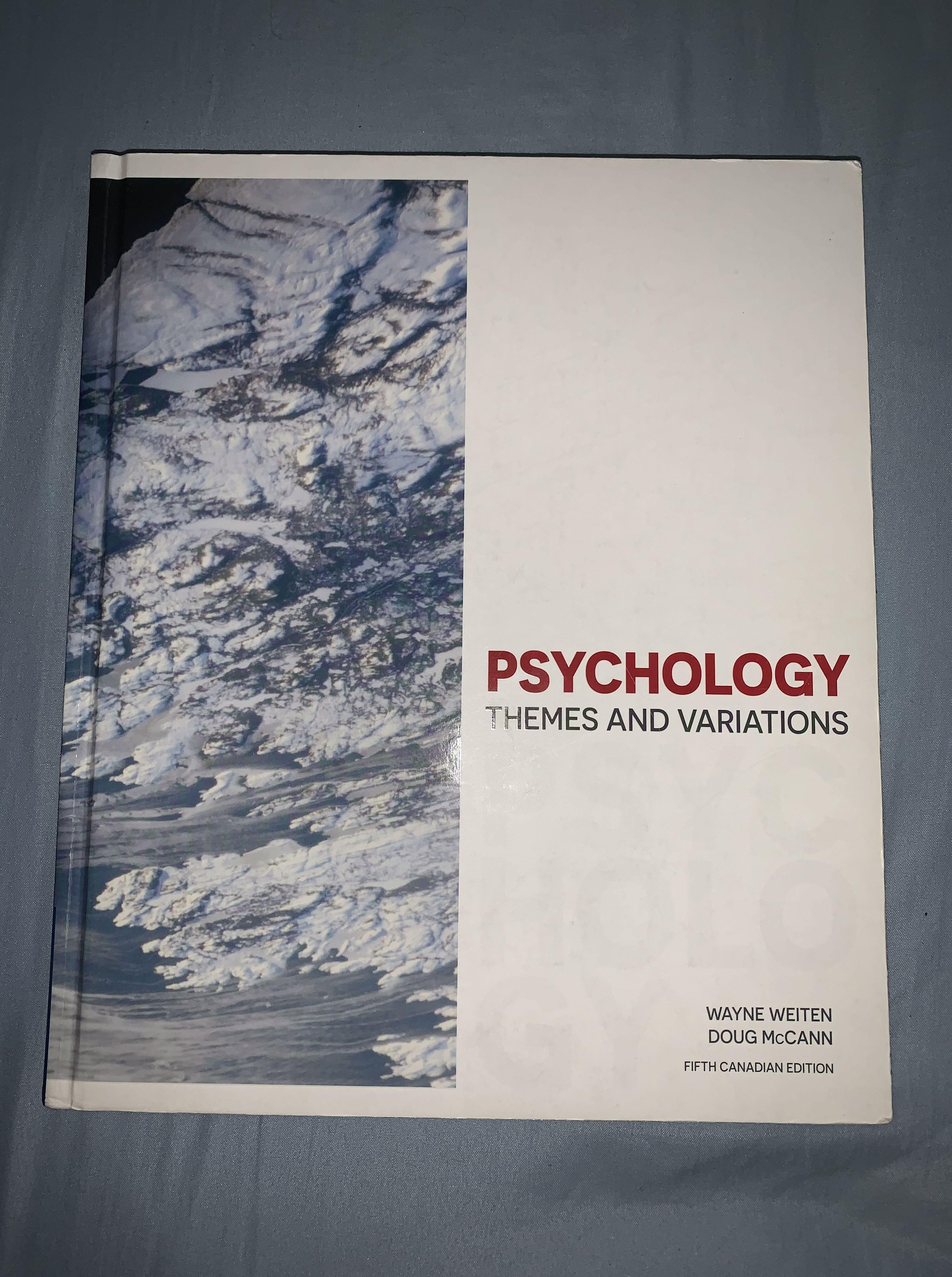 Psychology Theme and Variations (5th Edition) - Wayne Weiten and Doug McCann