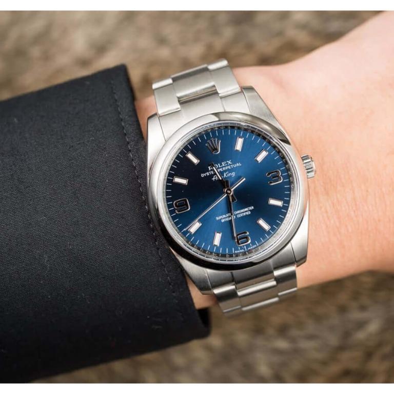 Rolex Air King Blue Sunburst - 114200