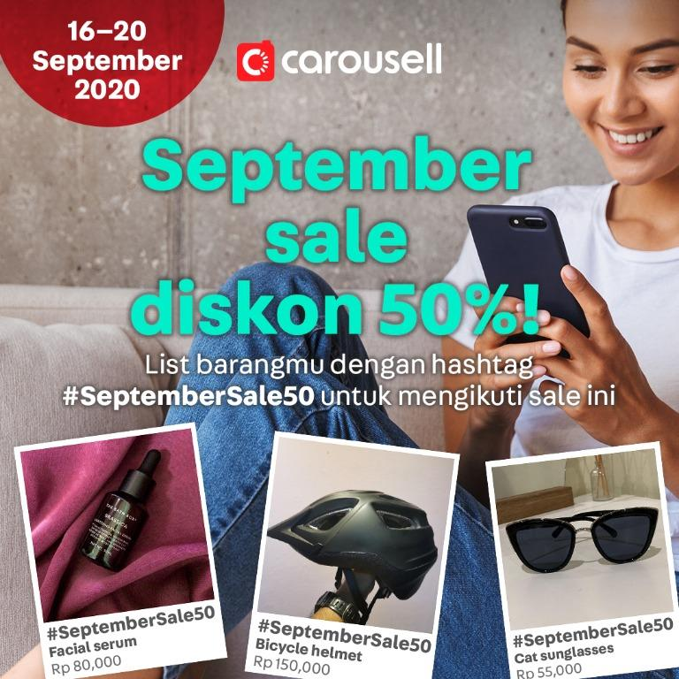 September Sale Diskon 50%!