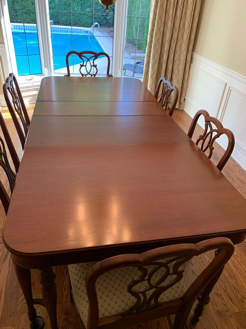 Solid Walnut 6 Person Dining Set