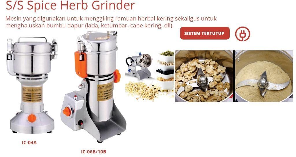 S/S SPICE HERB GRINDER (IC-06B)