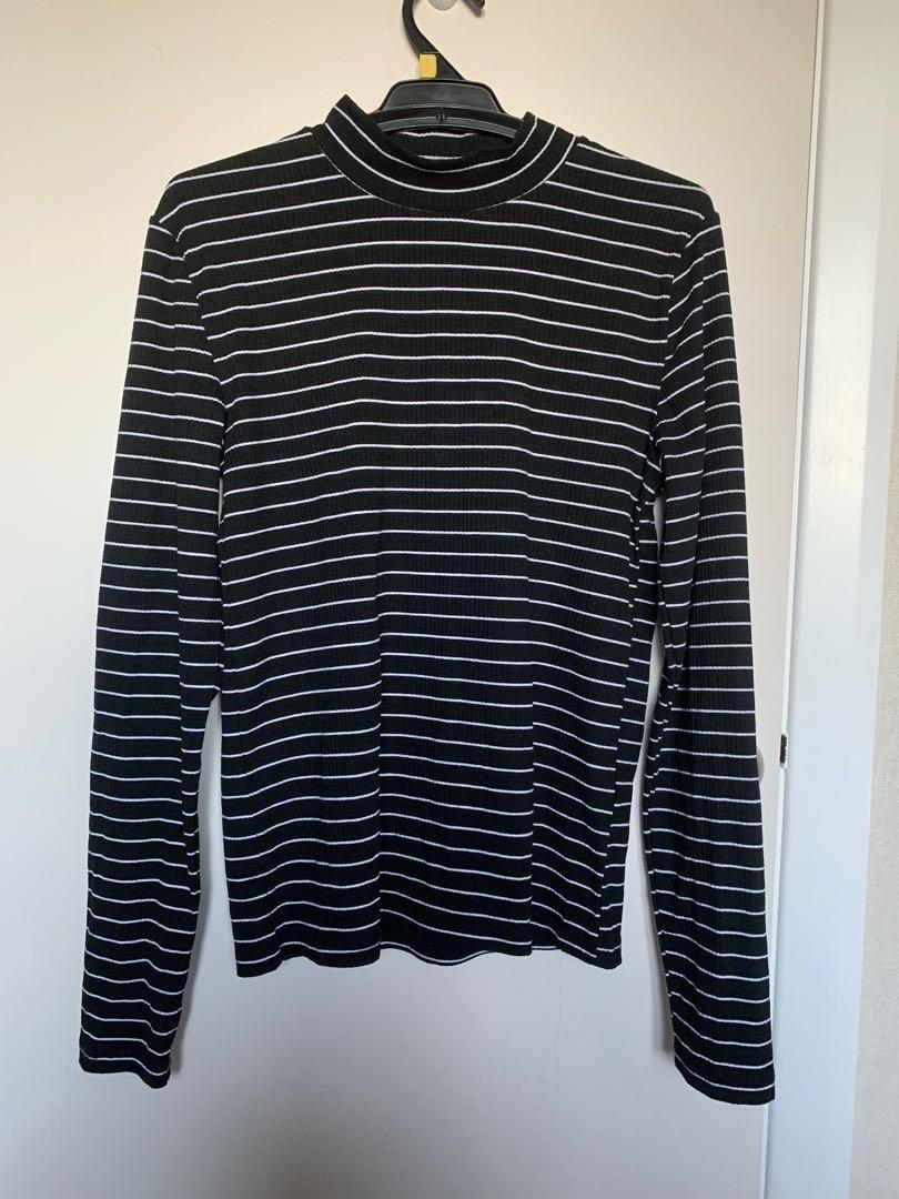 striped turtleneck