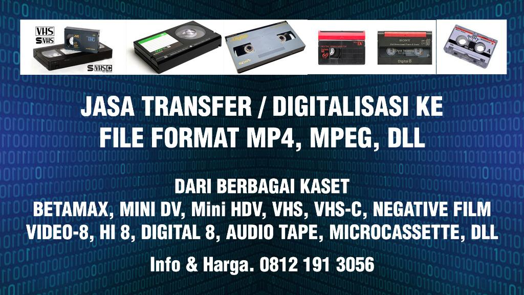 Transfer/Convert Betamax, VHS, VHS-C, Video8/Hi8/Digital8 & Mini DV