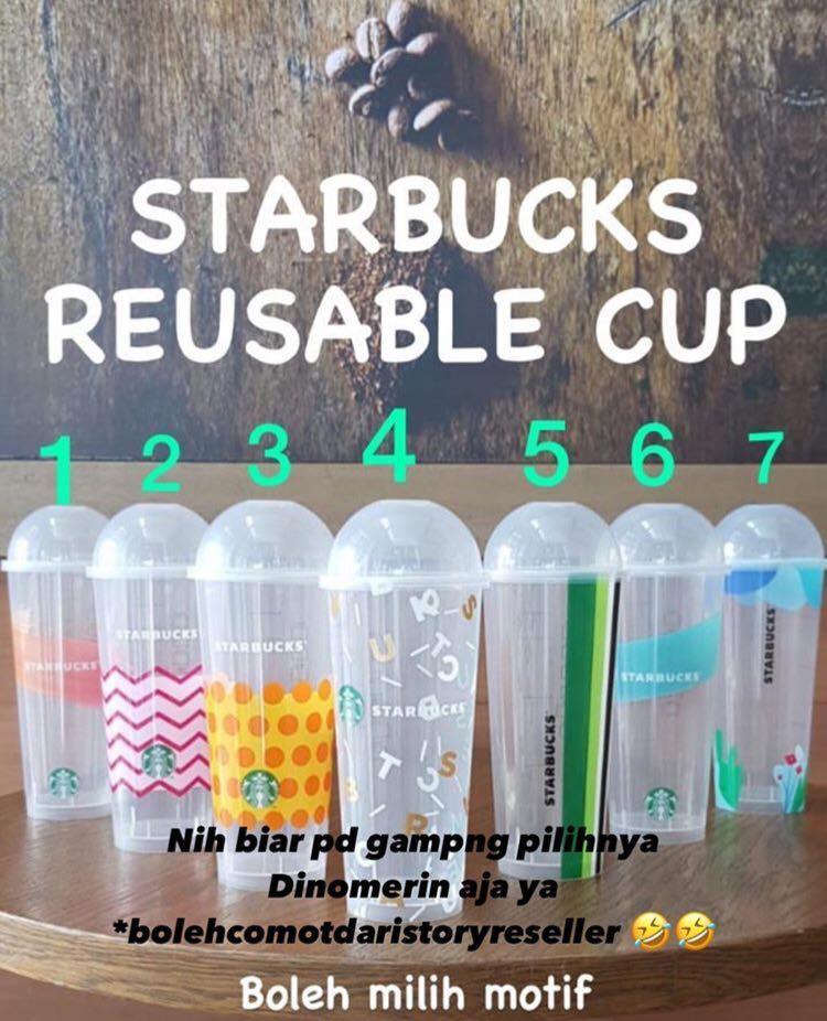 Tumblr Cup Reuseable Starbucks TERMURAH. YANG MAU LGSG TRANSFER KARNA CEPET ABIS. INI ORIGINAL YA!!