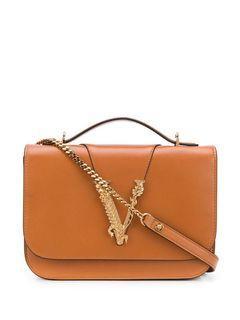 Versace 凡賽斯 光滑牛皮V字經典包 全新正品 附防塵袋與提袋