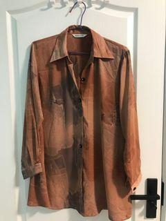 1730購入 古著絲質襯衫