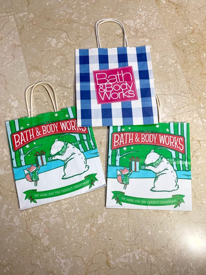 3x bath & body works paper bag