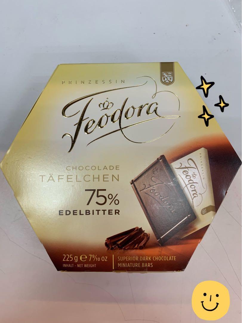 德國 Feodora 薄片黑巧克力 薄片 黑巧克力 巧克力 薄片巧克力 賭神巧克力 30片裝
